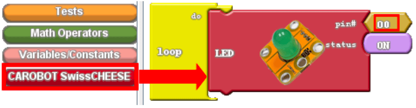 Adding an LED block into the loop.