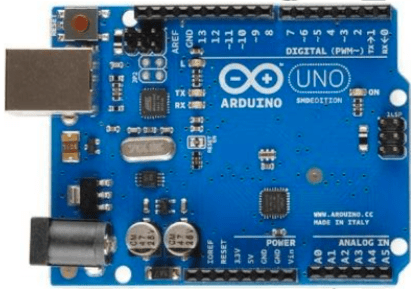 A picture of the Arduino board.